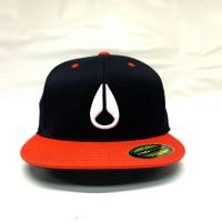 NIXON HAT C2333583-24 ICON 210 HAT BLACK/ORANGE L/XL