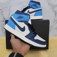 Nike Air Jordan 1 Mid Obsidian High Premium Like Original - Biru, 39