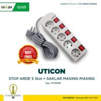 Stop Kontak 5 Lubang + Saklar tersendiri + Kabel UTICON ST-1582 SW
