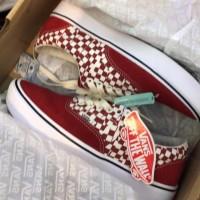 Vans UA ComfyCush ERA (Tear Check) Racing red/true lengkap + Box