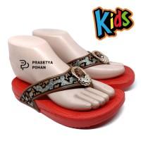 Sandal Anak Perempuan Tahan Air Model Batik - Sendal Perempuan - RED