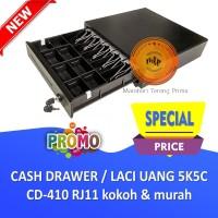 Cash Drawer / Laci Uang Kasir POS 5K5C CD-410 RJ11 kokoh - BERGARANSI