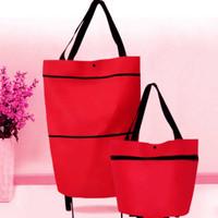 Travelmate Tas Belanja Lipat Roda Serbaguna Shopping Trolly Bag - Merah