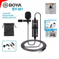 Mic BOYA BY-M1 Lavalier Microphone Clip On for Camera Smartphone Hp PC