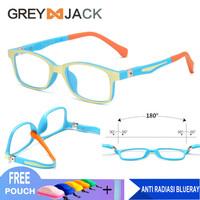 Grey Jack/Kacamata ANAK anti radiasi komputer HP TV TR90 1021