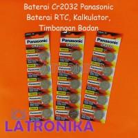 Baterai CR2032 Panasonic Battery RTC Timbangan Badan Batere Kalkulator