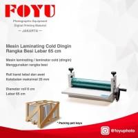 Mesin Laminating Cold Dingin Rangka Besi Lebar 65 cm