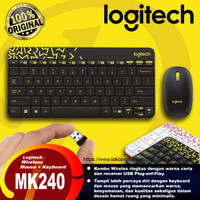 Logitech Combo Wireless Keyboard Mouse MK240