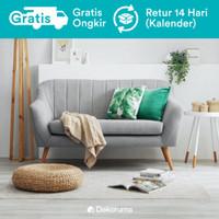 Dekoruma Jun Sofa 2 Seater - Sofa Minimalis 2 Dudukan Scandinavian - Abu-abu