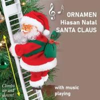 Hiasan Pohon Natal Santa Claus Christmas Tree decoration music ornamen