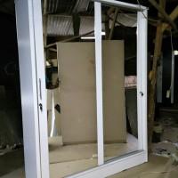 lemari sliding uk 150cm, lebar 50, t 200, (2 pintu)