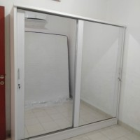 lemari pintu sliding, 2pintu kaca,bagus,murah, kualitas oke