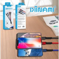 3IN1 DINAMI KABEL CHARGER POWER BANK 30CM UNIVERSAL BEST QUALITY