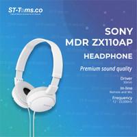 Sony MDR ZX110AP / MDR-ZX110AP / MDR-ZX110 AP Headphones - Black - Putih