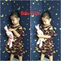 Baju Dress Anak Bayi Cewek / Perempuan Army Abri Tentara ( 1 - 3 th ) - size 1