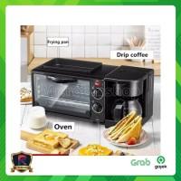 Breakfast Machine 3 in 1 Oven Pemanggang Roti Mesin Kopi Grill Pan