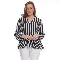 Basix - Blayze Blouse Stripe Black
