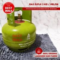 Tabung Gas Elpiji 3 KG Hijau Garansi Resmi Area Bandung - no karet seal
