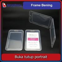 frame casing box tempat ID card flashdisk holder bening tutup portrait