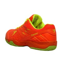 Terbaru Flypower Losari 02 Sepatu Badminton - FL Orange / Citrus