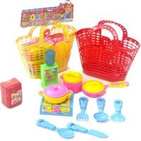 Mainan Anak Keranjang Belanja dengan Kitchen Set Masak Masakan