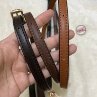 Bag strap small width leather 1,2cm