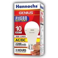 Lampu LED Emergency Genius 10 Watt Hannochs/ Charge/ Magic 12v-220v