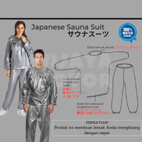 SALE Japanese Baju Sauna Suit Wanita Pria Suite Baju Olahraga Wanita - M Hitam