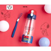 BOTOL MINUM PLASTIK ANAK BPA FREE 520 ML SNOOPY ORIGINAL