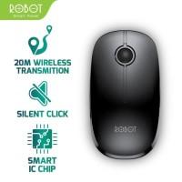 Mouse Wireless ROBOT M330 2.4GHz Silent Optical 1600DPI Original Resmi