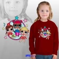 GRATIS CUSTOM NAMA Jaket Sweater Anak Perempuan / Cewek LOL SURPRISE