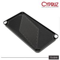 CYPRUZ CYPRUS Wajan Panggang / Grill Pan Persegi 2in1 46x23cm TG-0249