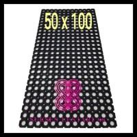 50x100 Keset Karpet Karet Berlubang Lubang / Anti Slip / Licin Lantai