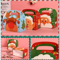 box gift box natal mika boneka salju snowman
