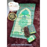 Sajadah Alfurqon Lipat Travel Pouch Turki Oleh Haji Dewasa Murah Tas