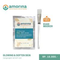 Spirulina Peel Off Mask - free kuas masker