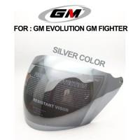 Kaca Helm GM Evolution GM Fighter Silver