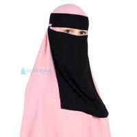Niqab Bandana Style Saudi Sifon Jetblack Alsyahra Exclusive