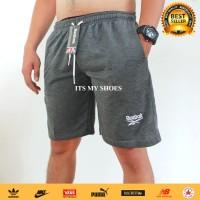 Celana Olahraga Pria-Celana Pendek-Bahan Tebal-Abu
