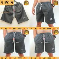 3 PCS Celana Pendek Pria-Celana Kolor-Bahan Tebal-Abu