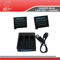 Jakarta Digital PAKET 2 BATTERY + 1 CHARGER For GOPRO HERO 4 - NINJA