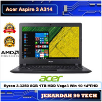 LAPTOP ACER ASPIRE A314 Ryzen 3-3250 RAM 8GB 1TB VEGA 3 WIN 10 14HD