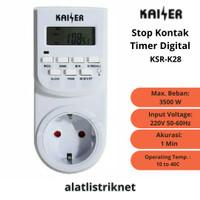 STOP KONTAK TIMER DIGITAL LISTRIK KAISER STOPKONTAK OTOMATIS COLOKAN