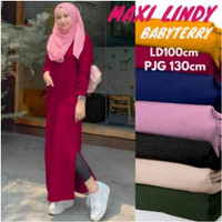 Long Tunik Polos Terbaru 2020 MAXI LINDY Babyterry ALL SIZE Fit to L - Maroon, all size