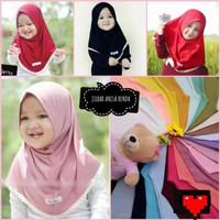Jilbab Anak Anisa Renda / Kerudung bayi Murah/ Alody's Collection - Hitam