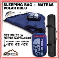 Sleeping Bag Polar Bulu Plus Matras Camping Outdoor