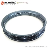 SCARLET RACING velg motor velg uk 17 215 WM shape TITANIUM