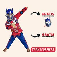Baju Anak Kostum Transformers Setelan Optimus Prime Gratis Topeng - 1-2 Tahun
