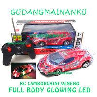 Mobil RC Remote Control / Remot / Radio Kontrol LED Full Body Ferrari