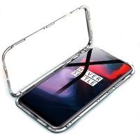 Oppo f7 PREMIUM MAGNETIC Glass Case Casing Cover Magnetik kaca - Hitam